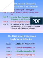The Buzz Session Discussion Topics
