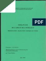 Miskawayh, De l'âme et de l'intellect
