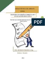 MODULO TÉCNICAS E INSTRUMENTOS DE EVALUACIÓN EDUCATIVA