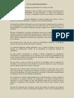 EVALUACIÓN DIAGNÓSTICA (proyecto)