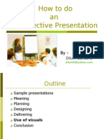How to Do an Effective Presentation View