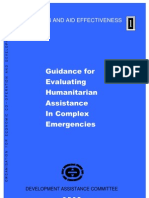 Guidelines for the Evaluation of Humanitarian Assistance