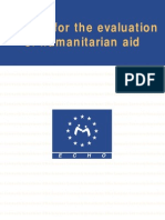 Manual for the Evaluation of Humanitarian Aid - Echo