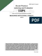Measuring Institutional Capacity - Annexes