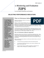 Selecting Performance Indicators 214