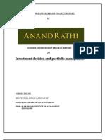 Investment Decision and Portfolio Management