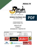 Stage 5 Batangas-Tagaytay