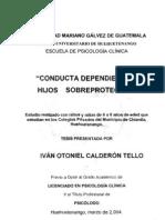 SOBREPROTECCIÓN VS CONDUCTA DEPENDIENTE