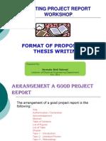 Project Report Workshop