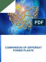Comparison of Different Power Plants
