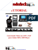 TUTORIAL Convert en Do Vídeos Em AMV e 3GP Para Celular MP4 e MP5 Player