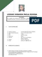 Curriculum Paola Romina