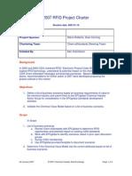 CIDX Project Charter RFID 2007-01-18