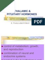 Hypothalamic & Pituitary Hormones