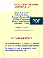 How to Face Interview 22Jan2005