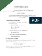 CIA FOIA Annual Report