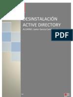 DESINSTALACIÓN ACTIVE DIRECTORY
