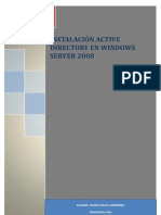 Instalación Active Directory en Windows Server 2008