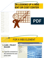 Tips on Looking Up a Wbs Element