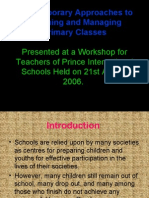 Contemporary Approaches to Teaching and Managing Primary Classes