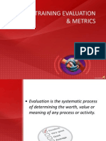 Evaluating Training and Metrics