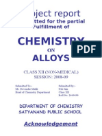 Chemistry on Alloys