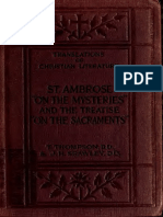 "Thompson, Strawley. St. Ambrose. ""On the mysteries"" and the treatise, On the sacraments, by an unknown author. [1919]."