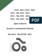 MTZ-820 szervízkönyv HUN