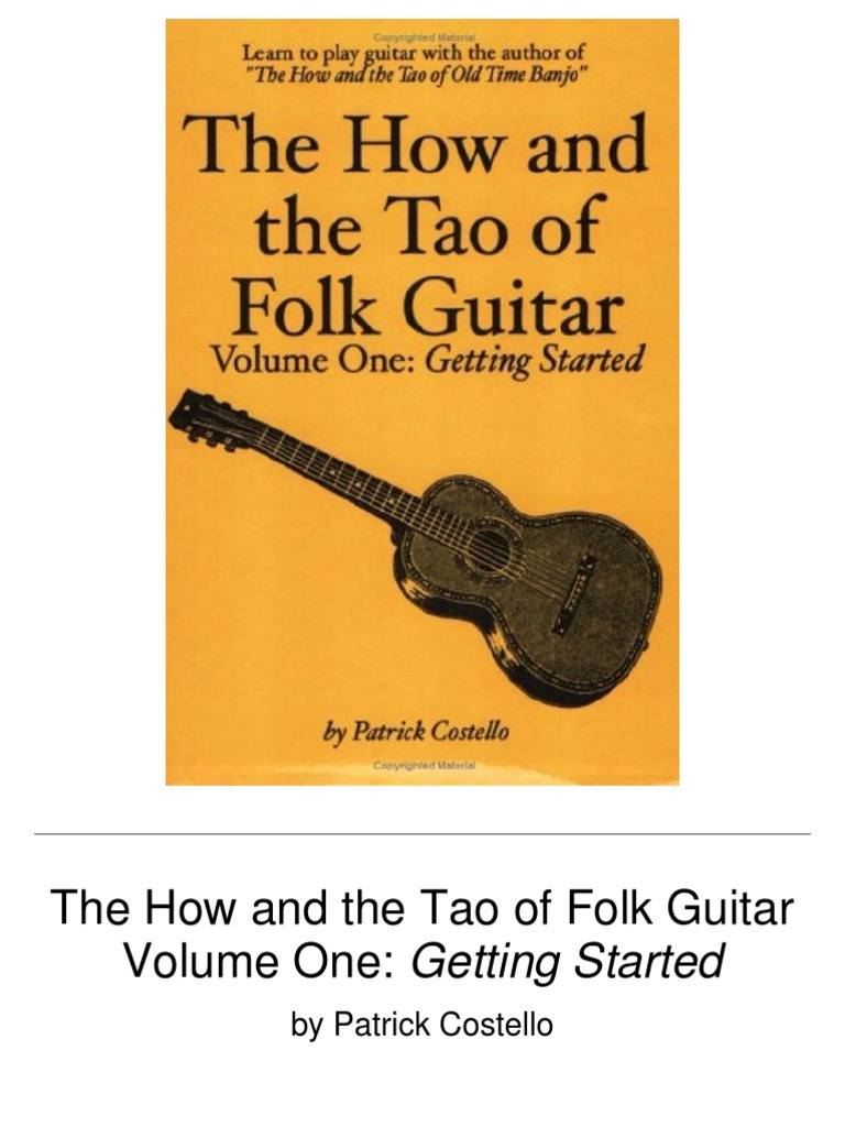 The How And The Tao Of Folk Guitar Guitars License