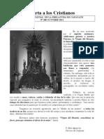 Carta a los Cristianos - Octubre 2011[1]
