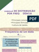 Tabela de DistribuiÇÃo Por Freq Aula 5 Saúde Coletiva III