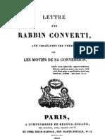 Hebreos Católicos - Paul Drach - 1ra carta de un rabino convertido a los hijos de Israel, sus hermanos, sobre los motivos de su conversión