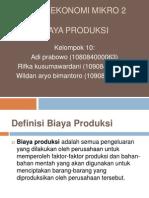 presentasi biaya produksi