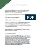 AULA 01 Direito Administrativo Agentes Públicos TJ