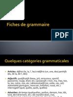 Fiche de Grammaire