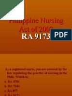 Philippine Nursing Act of 2002 (Revised)