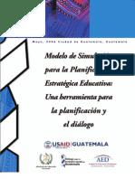 Modelo de Simulación Para La Planificación Estratégica Educativa