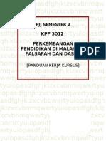 Kerja Kursus Kpf 3012 (Pjj)