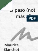 Blanchot Maurice El Paso No Mas Alla PDF