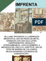 Gutemberg y La Imprenta