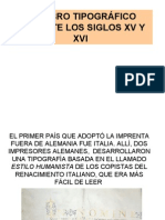 El Libro TipogrÁfico Durante Los Siglos Xv y Xvi