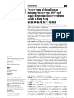 Twenty Years of Clinical Human Immunodeficiency Syndrome in Hong Kong