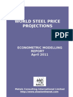 MCI Steel Price Projections Report