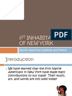1st Inhabitants of New York