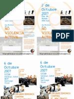 Flyer Foro de La No Violencia