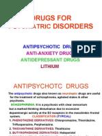 Drugs for Psyciatric Disorders