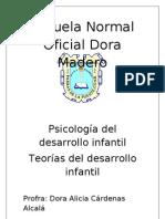 Escuela Normal Oficial Dora Madero Teorias Del Desarrollo