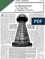 Nikola Tesla - The Magnifying Transmitter