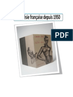 La Poesie Francaise Depuis 1950