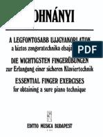 Dohnanyi Essential Finger Exercises